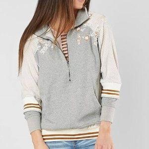 Gimmicks BKE Embellished Half Zip Sweatshirt